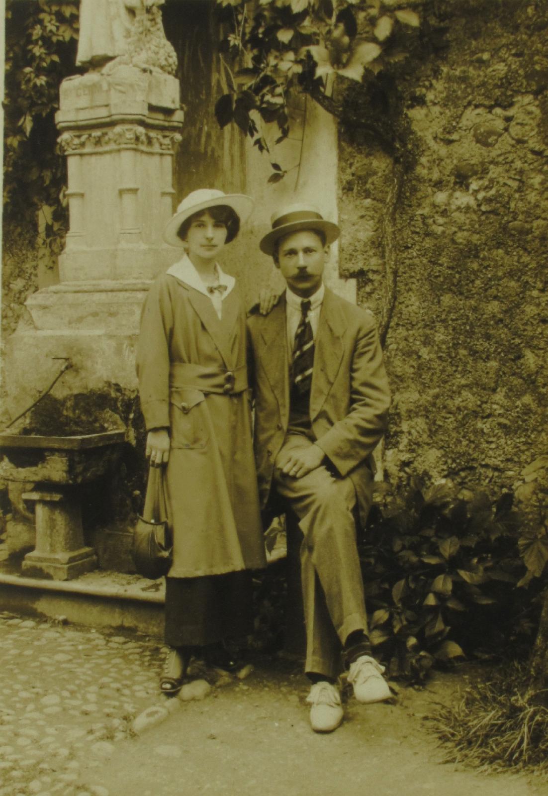 Un couple interné au camp de Garaison