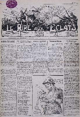 Un journal de tranchées rédigé par les Poilus