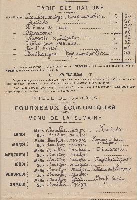 Une initiative de solidarité sociale pendant la Grande Guerre : Les fourneaux économiques.