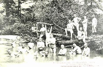 Des prisonniers allemands dans la Baïse