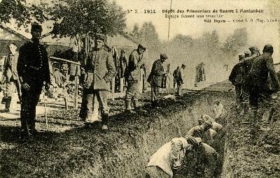Prisonniers allemands à Montauban
