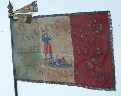 Drapeau de conscrits 1914